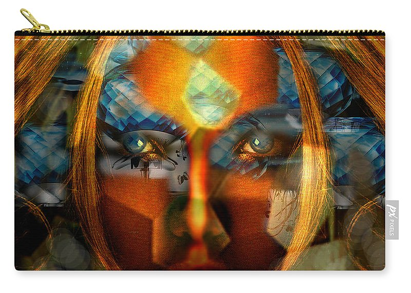 Lady Carry-all Pouch featuring the photograph Diamonella by Seth Weaver