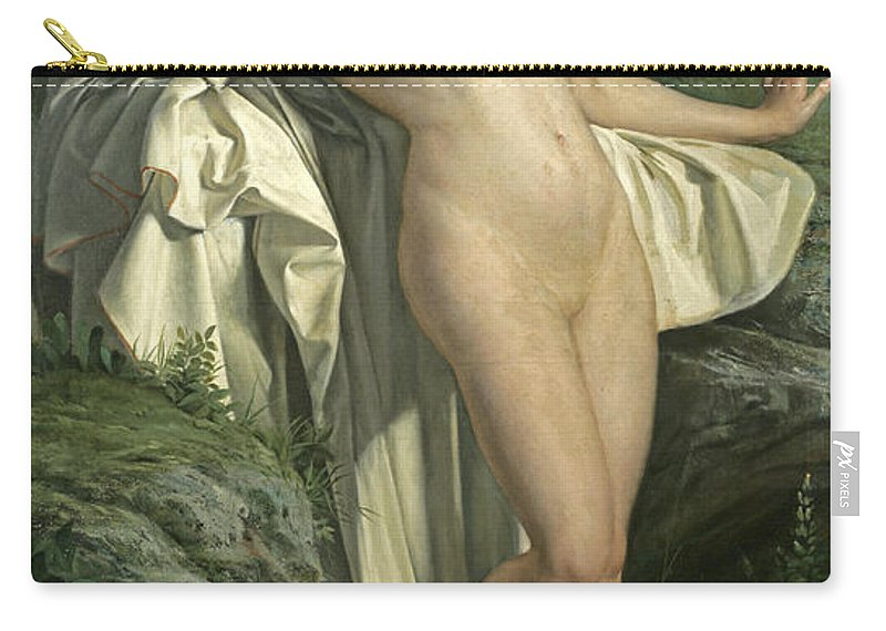 Alexandre Jacques Chantron Carry-all Pouch featuring the painting Diana At Her Bath by Alexandre Jacques Chantron