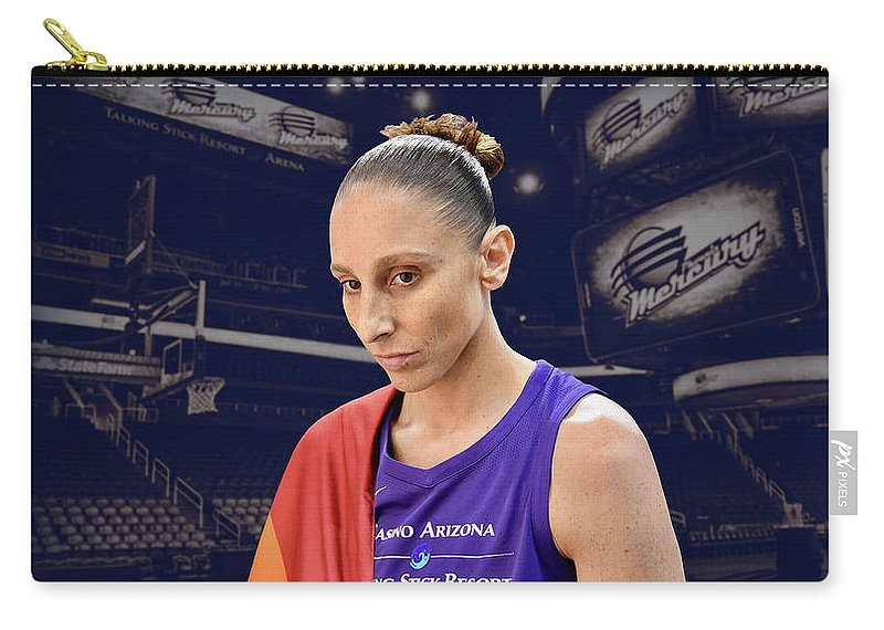 Diana Taurasi Carry-all Pouch featuring the photograph Diana Taurasi Lgbt Pride 4 by Devin Millington