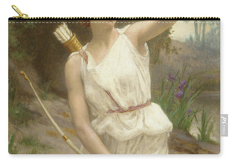 Seignac Carry-all Pouch featuring the painting Diana, The Huntress by Guillaume Seignac