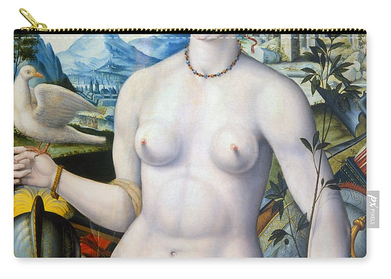 1570 Carry-all Pouch featuring the painting Diane De Poitiers (1499-1566) by Granger