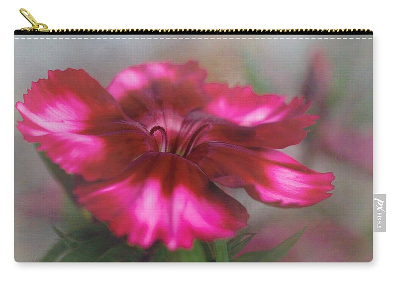 Bloom Carry-all Pouch featuring the photograph Dianthus Flower I by David and Carol Kelly