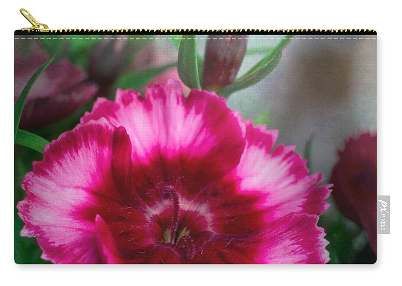 Bloom Carry-all Pouch featuring the photograph Dianthus Flower II by David and Carol Kelly