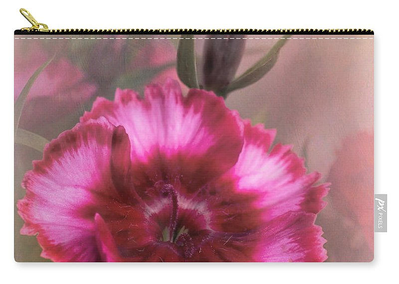 Bloom Carry-all Pouch featuring the photograph Dianthus Flower IIi by David and Carol Kelly