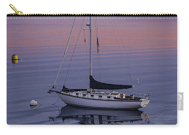 Sailboat Diapensia Carry-all Pouch featuring the photograph Diapensia At First Light by Marty Saccone