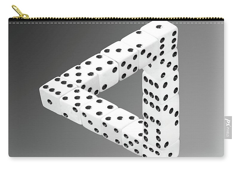 Optical Illusion Carry-all Pouch featuring the photograph Dice Illusion by Shane Bechler