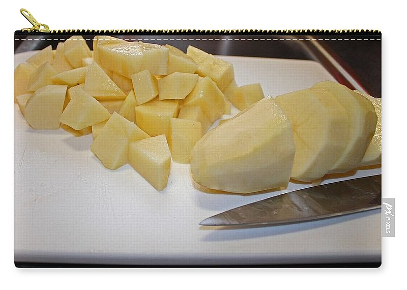 Potato Carry-all Pouch featuring the photograph Dicing Potatoes I by Michiale Schneider