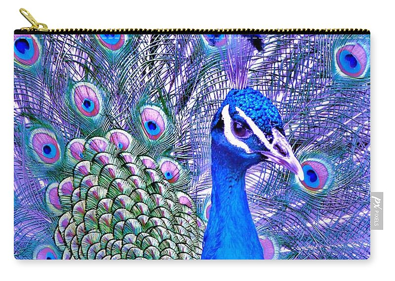 Contemporary Carry-all Pouch featuring the photograph Did You Put Artificial Colors In My Food by Margaret Bobb