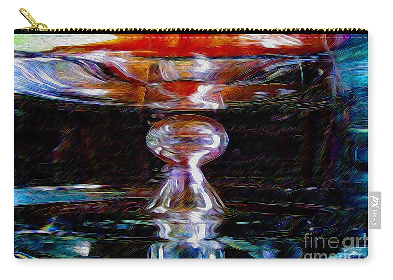 Paintings Photos Drawings Digital Art Mixed Media Painters Illustrators Photographers Digital Artists Abstract Architecture Fantasy Impressionism Landscape Portraits Science Fiction Still Life Surrealism Editorial Satire Statement Nature Artificial Mechanical Organic Carry-all Pouch featuring the mixed media Die Glasdecke Wurde Gebrochen by Kevin Keeling