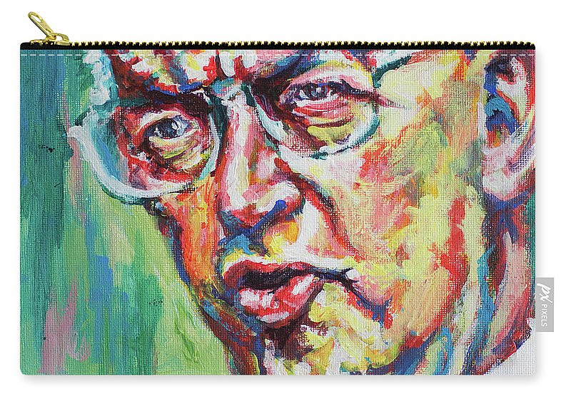 Botha Carry-all Pouch featuring the painting Die Groot Krokodil by Larry Ger