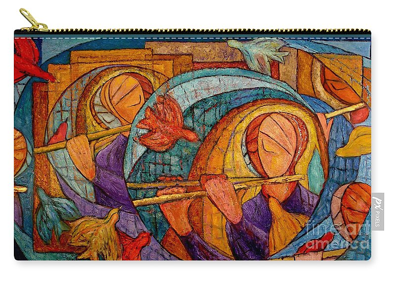 Flute Carry-all Pouch featuring the painting Die Zauberflote by Emanuel Vardi