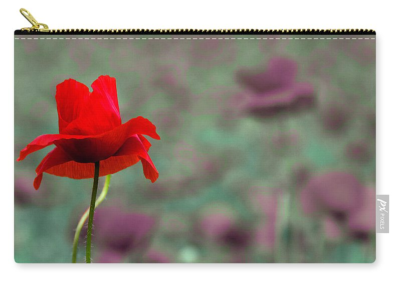 Poppy Carry-all Pouch featuring the photograph Different 2 by Wolfgang Stocker