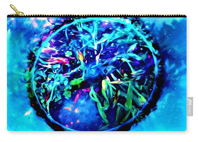 Photography Carry-all Pouch featuring the mixed media Different View Of Topgraphy by Debra Lynch
