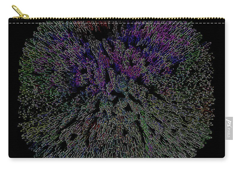 Digital Abstract Graphic Design Carry-all Pouch featuring the painting Digital Abstract Graphic Design A662016 by Mas Art Studio