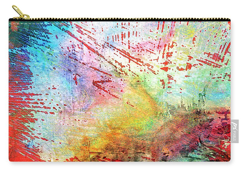 Abstract Carry-all Pouch featuring the photograph Digital Abstract by Tom Gowanlock