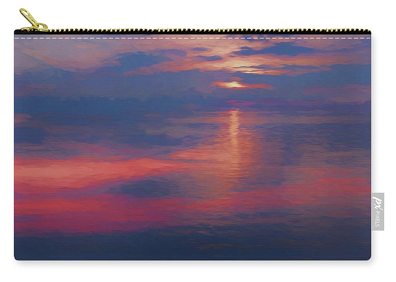Digital Art Carry-all Pouch featuring the digital art digital art  SUNSET SEASIDE by Anthony Paladino