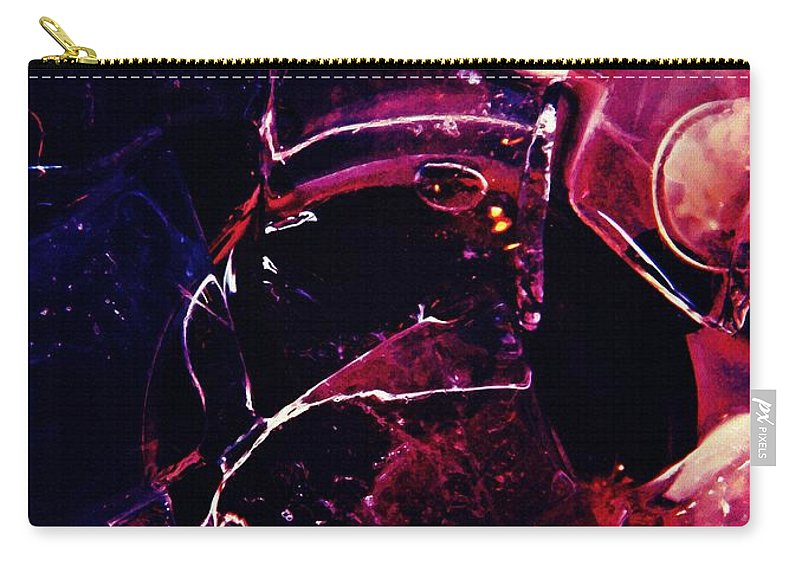 Ice Carry-all Pouch featuring the photograph Digital Ice 2 by Sarah Loft