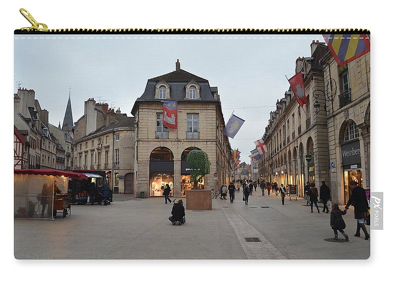 Street Corner Carry-all Pouch featuring the photograph Dijon Street Corner by Dawn Crichton