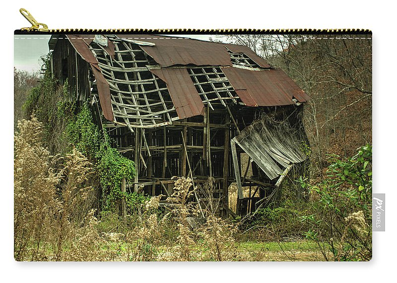 Dilapidated Carry-all Pouch featuring the photograph Dilapidated Barn Morgan County Kentucky by Douglas Barnett