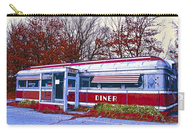 Diner Carry-all Pouch featuring the mixed media Diner by Dominic Piperata