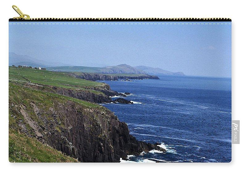 Irish Carry-all Pouch featuring the photograph Dingle Coast Near Fahan Ireland by Teresa Mucha