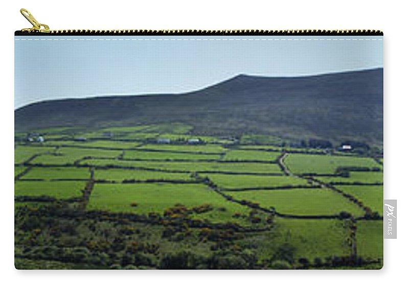 Irish Carry-all Pouch featuring the photograph Dingle Peninsula Panorama Ireland by Teresa Mucha