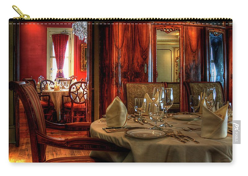 New Orleans Carry-all Pouch featuring the photograph Dining At Muriel's by Kathleen K Parker