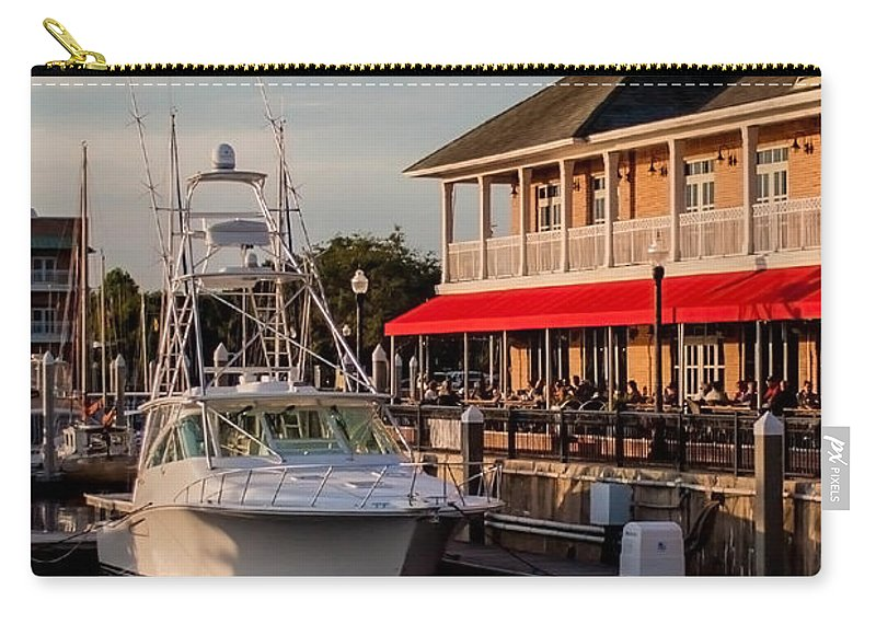 Marina Carry-all Pouch featuring the photograph Dining At The Marina by Mechala Matthews
