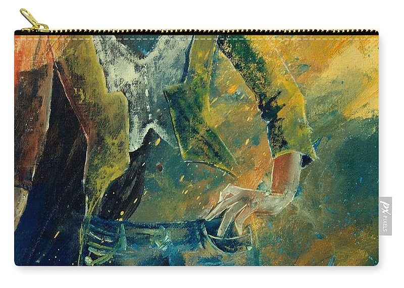 Woman Girl Fashion Carry-all Pouch featuring the painting Dinner Jacket by Pol Ledent