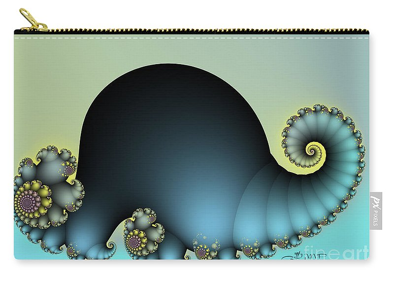 Fractal Carry-all Pouch featuring the digital art Dino by Jutta Maria Pusl