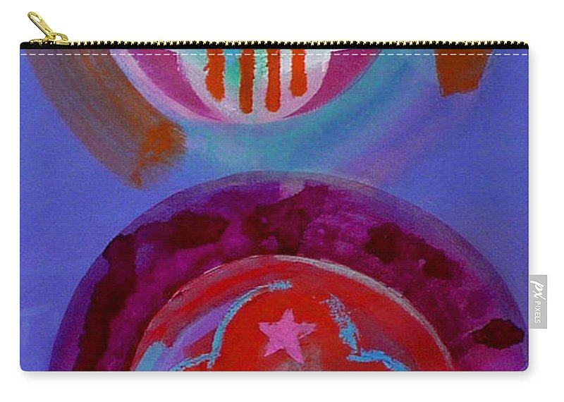 Logo Carry-all Pouch featuring the painting Diptych by Charles Stuart