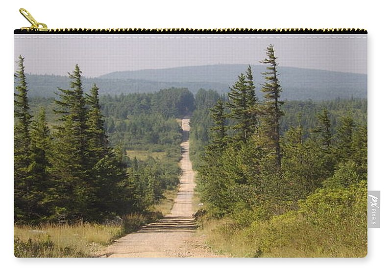 Dirt Road Dolly Sods West Virginia Appalachian Mountain Landscape Images Photgraph Prints Nature Great Outdoors Wilderness Wind Blown Pine Trees Blue Ridge Mountain Prints Carry-all Pouch featuring the photograph Dirt Road To Dolly Sods by Joshua Bales
