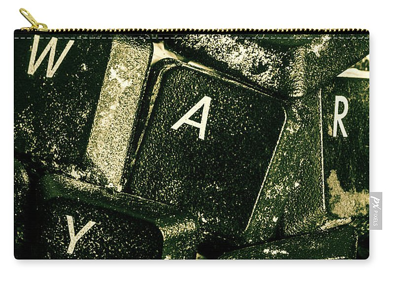 War Carry-all Pouch featuring the photograph Disarming Of Weaponiised Words by Jorgo Photography - Wall Art Gallery