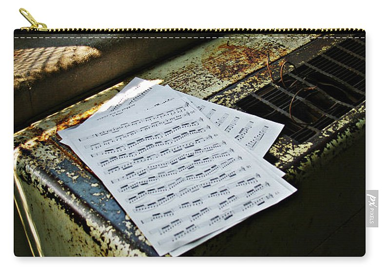 Music Carry-all Pouch featuring the photograph Discarded Notes by Scott Wyatt