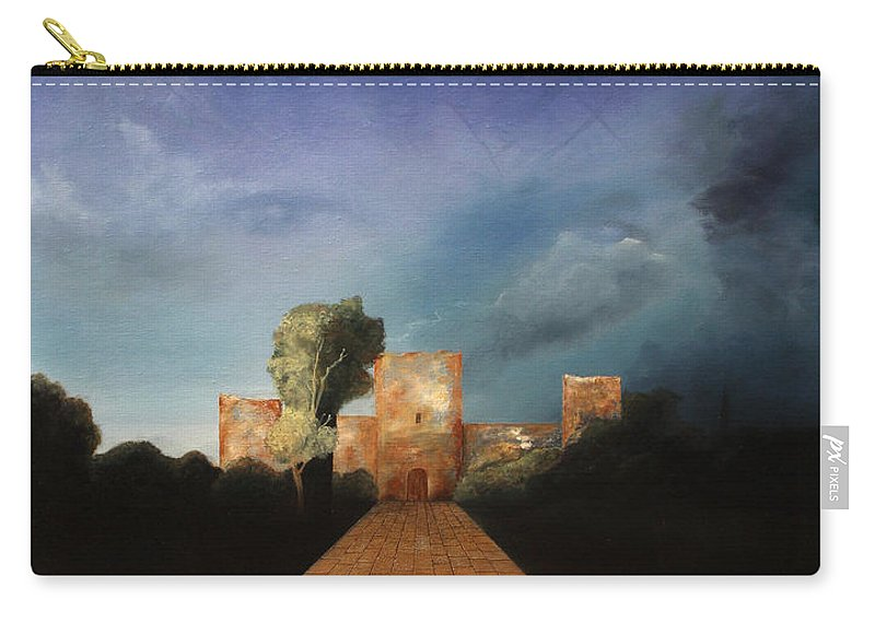 Disclosure Of The Hidden Carry-all Pouch featuring the painting Disclosure Of The Hidden by Darko Topalski