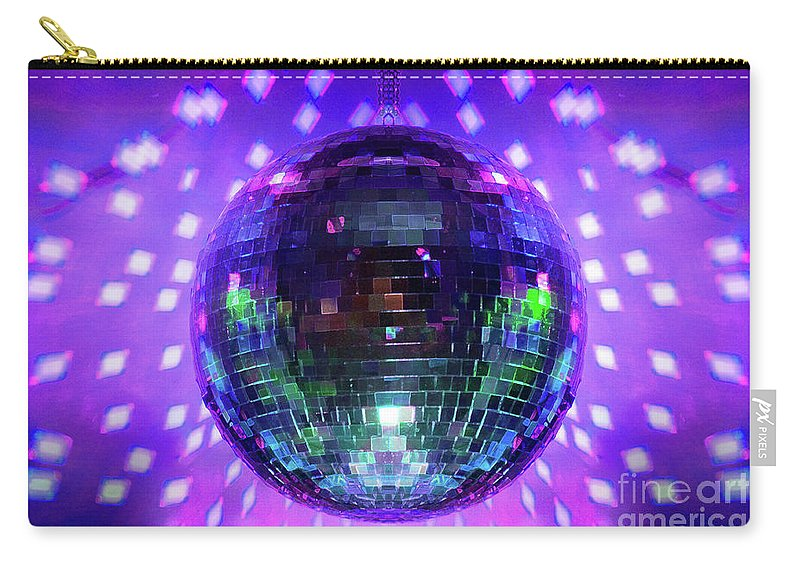 Disco Ball Carry-all Pouch featuring the photograph Disco Ball Purple by Andee Design