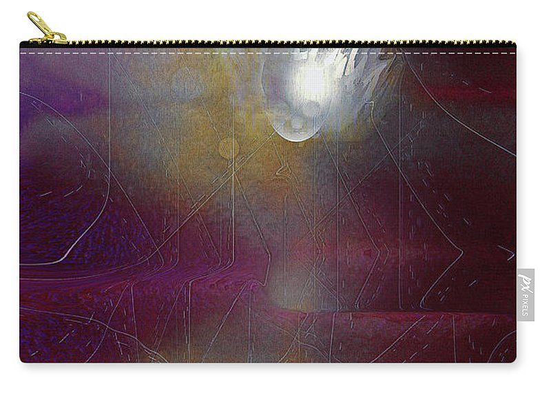 Disconnected Art Carry-all Pouch featuring the digital art Disconnected by Linda Sannuti