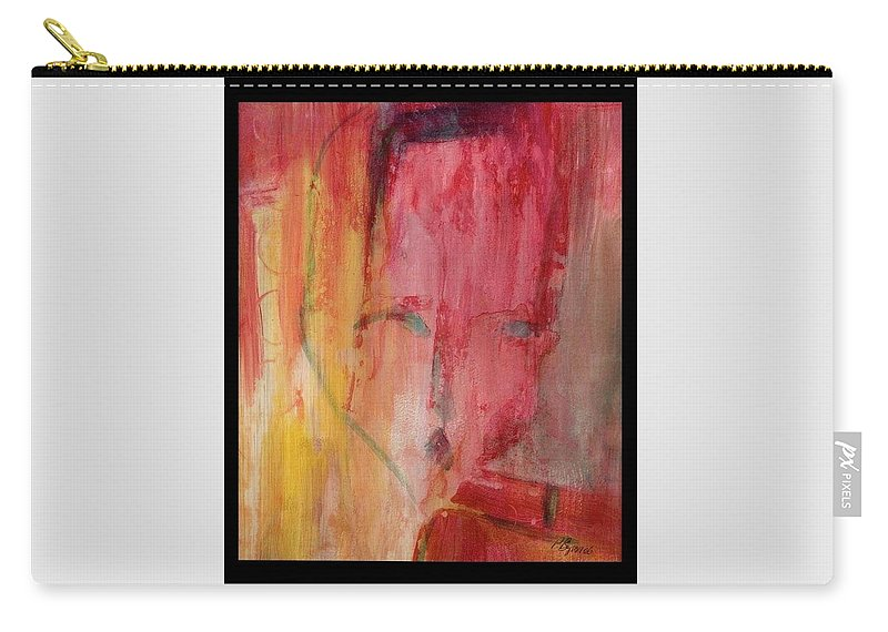 Abstract Carry-all Pouch featuring the painting Disconnected by Patricia Byron
