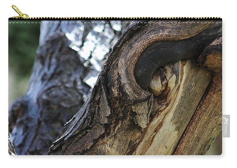 Disfigured Carry-all Pouch featuring the photograph Disfigured By Nature by LKB Art and Photography