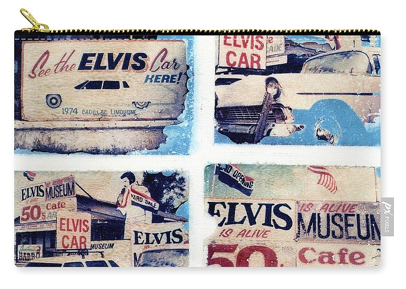 Elvis Carry-all Pouch featuring the photograph Disgraceland by Jane Linders