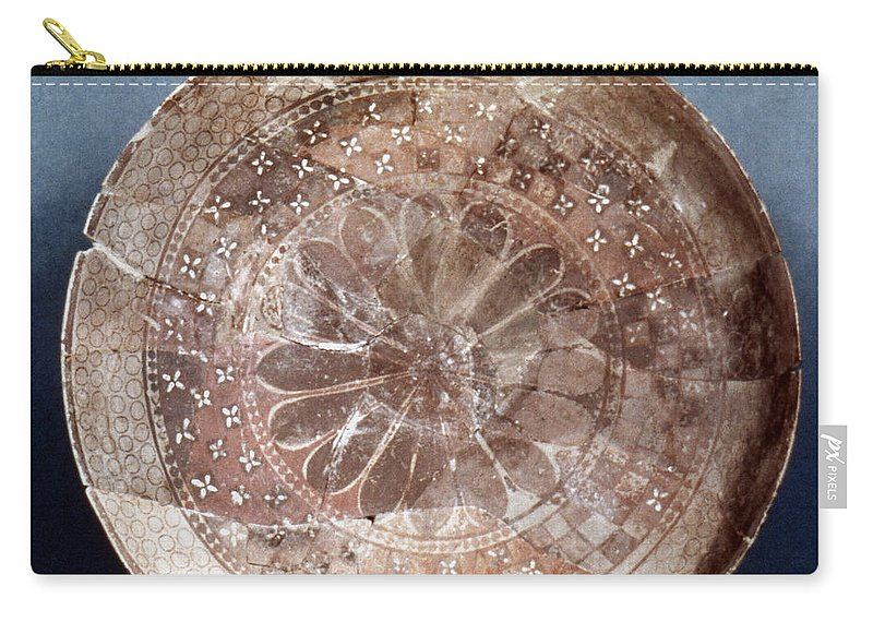 4100 B.c Carry-all Pouch featuring the photograph Dish Of Halaf Ware by Granger