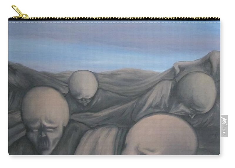 Tmad Carry-all Pouch featuring the painting Dismay by Michael TMAD Finney