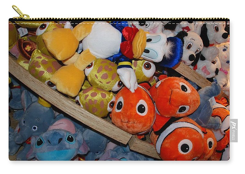 Colors Carry-all Pouch featuring the photograph Disney Animals by Rob Hans