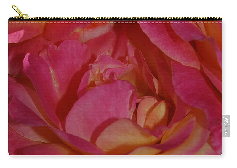 Rose Carry-all Pouch featuring the photograph Disneyland Rose by Teresa Stallings
