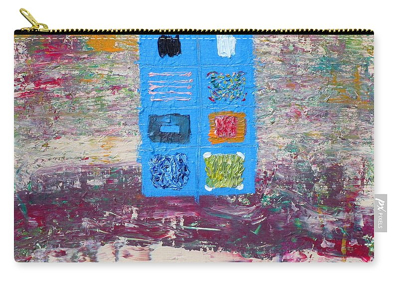 Abstract Carry-all Pouch featuring the painting Display 3 by Fabrizio Cassetta