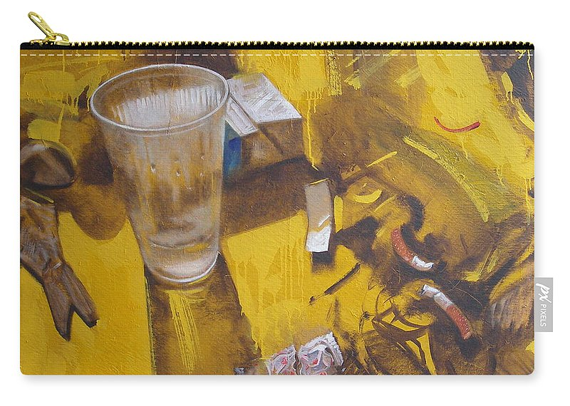 Disposable Carry-all Pouch featuring the painting Disposable by Sergey Ignatenko