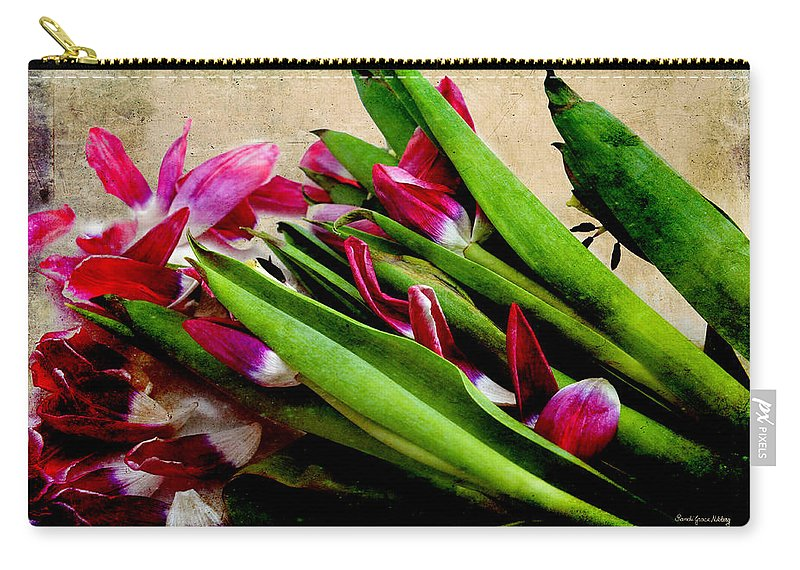 Red Carry-all Pouch featuring the photograph Disposed by Randi Grace Nilsberg