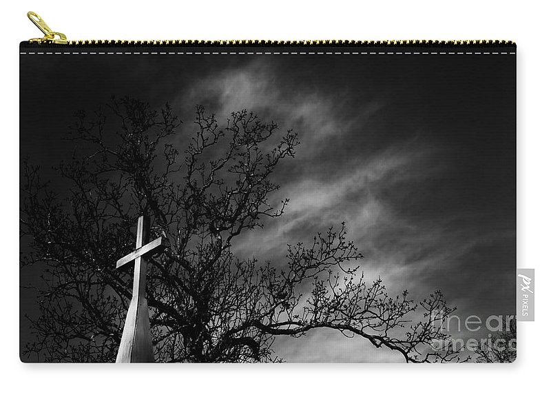 Disquiet Carry-all Pouch featuring the photograph Disquiet by Amanda Barcon