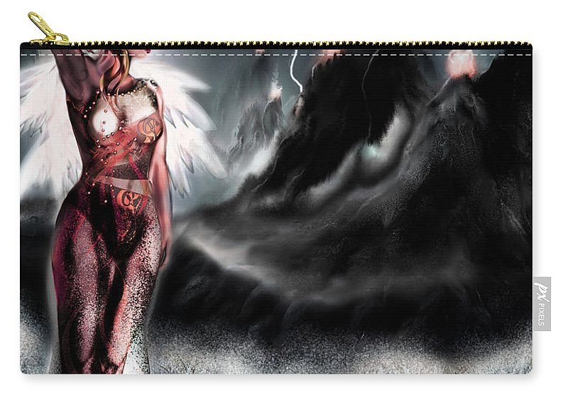 Landscape Carry-all Pouch featuring the digital art Distance by Grant Wilson