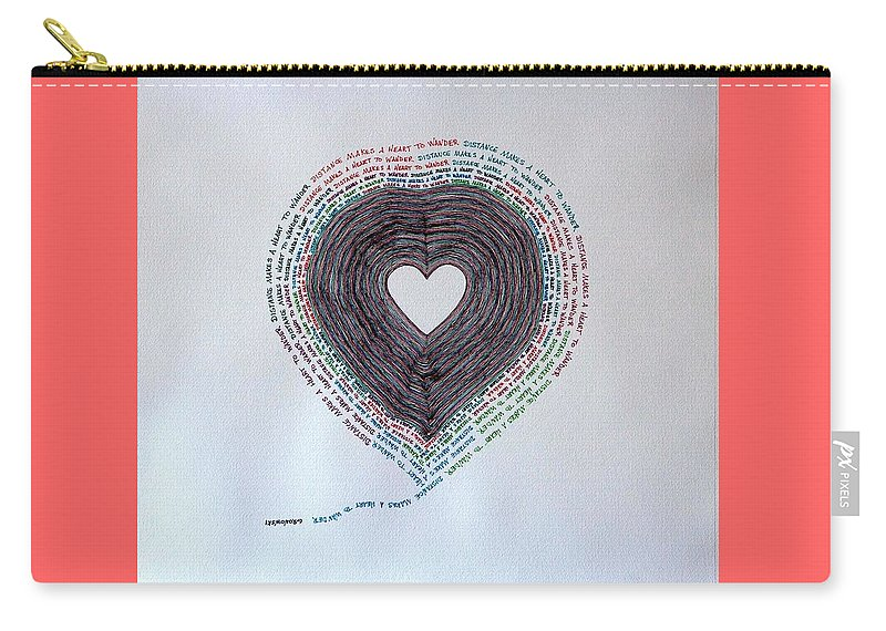 Heart Carry-all Pouch featuring the painting Distance by Thomas Gronowski